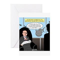 Bald Movie Villains Greeting Cards (Pk of 20)