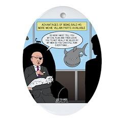 Bald Movie Villains Ornament (Oval)