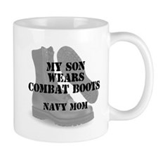 Navy mom son wears CB Mugs
