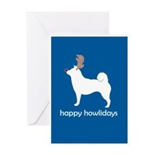 "Shiba Inus ""Happy Howlidays"" Greeting Cards (Packa"