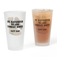 Navy Dad daughter wears DCB Drinking Glass