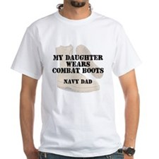 Navy Dad daughter wears DCB T-Shirt