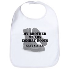 Navy Sister Brother wears CB Bib