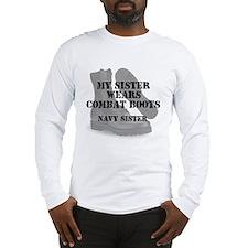 Navy Sister wears CB Long Sleeve T-Shirt