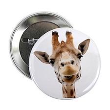 """Giraffe Face New Profile 2.25"""" Button"""