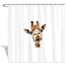 Giraffe Face New Profile Shower Curtain
