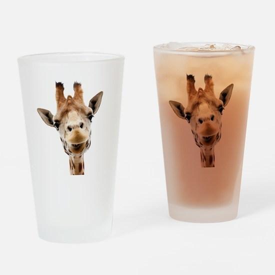 Giraffe Face New Profile Drinking Glass