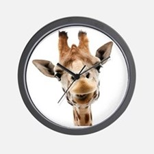 Giraffe Face New Profile Wall Clock