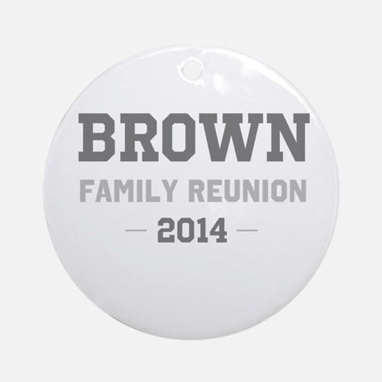 Personal Surname Family Reunion Ornament (Round)