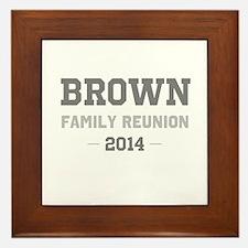 Personal Surname Family Reunion Framed Tile