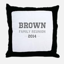 Personal Surname Family Reunion Throw Pillow