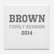 Personal Surname Family Reunion Tile Coaster