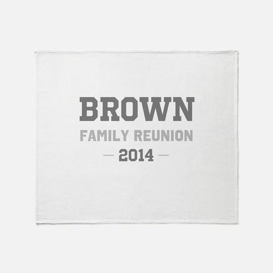 Personal Surname Family Reunion Throw Blanket