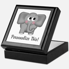 Cute Elephant Personalized Keepsake Box