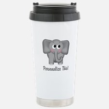 Cute Elephant Personalized Travel Mug