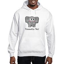 Cute Elephant Personalized Hoodie