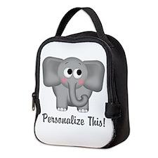 Cute Elephant Personalized Neoprene Lunch Bag
