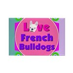Love French Bulldogs Rectangle Magnet