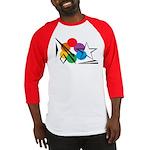 Rainbow Light Sky Baseball Jersey