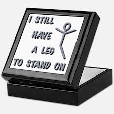 I Still Have A Leg to Stand On, silve Keepsake Box