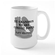 Navy Grandma Grandson wears CB Mugs
