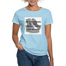 Navy Grandma Grandson wears CB T-Shirt