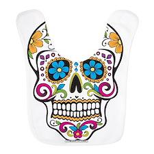 Day of The Dead Sugar Skull, Halloween Bib