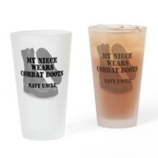 Navy Uncle Niece wears CB Drinking Glass