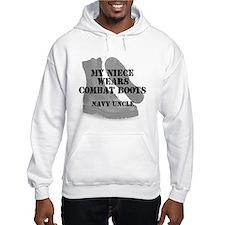 Navy Uncle Niece wears CB Hoodie