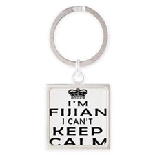 I Am Fijian I Can Not Keep Calm Square Keychain