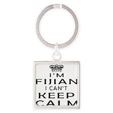 I Am Fijian I Can Not Keep Calm Square Keychain