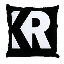 Kitchen Rebel Logo Black Throw Pillow