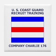 USCG Recruit Company C176<BR> Tile Coaster