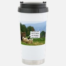 Dropped Stitch Knitting Sheep Travel Mug