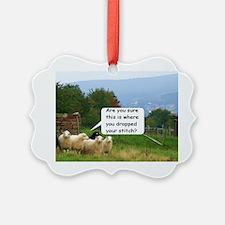 Dropped Stitch Knitting Sheep Ornament