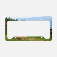 Dropped Stitch Knitting Sheep License Plate Holder