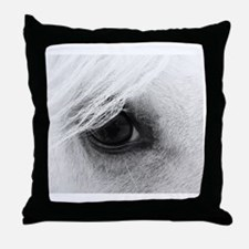 Horse Eye Throw Pillow