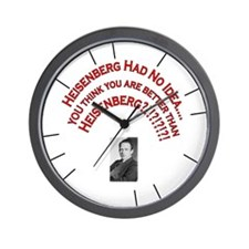 Heisenberg Uncertainty Wall Clock