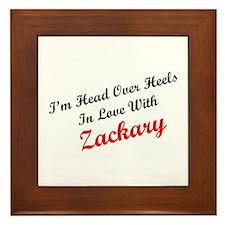 In Love with Zackary Framed Tile