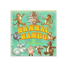 """Mammal Mambo Square Sticker 3"""" x 3"""""""