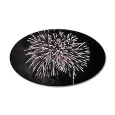 Firework Burst 35x21 Oval Wall Decal