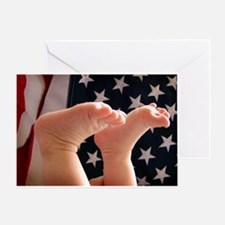 July 4th baby Greeting Cards