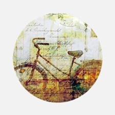 Autumn Bicycle Round Ornament