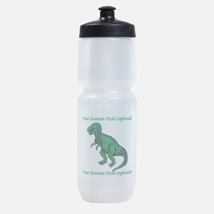 CUSTOM TEXT T-Rex Sports Bottle