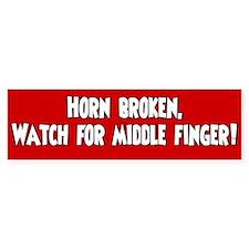 Bumper Sticker Horn Broken