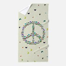 Butterflies and Mushrooms Of Peace Beach Towel