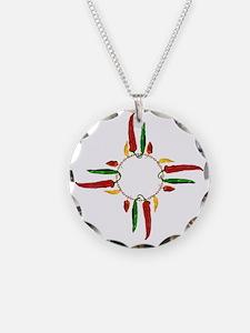 Chile pepper zia symbol Necklace