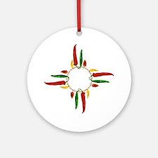 Chile pepper zia symbol Round Ornament