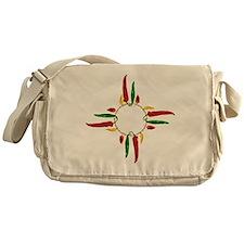 Chile pepper zia symbol Messenger Bag