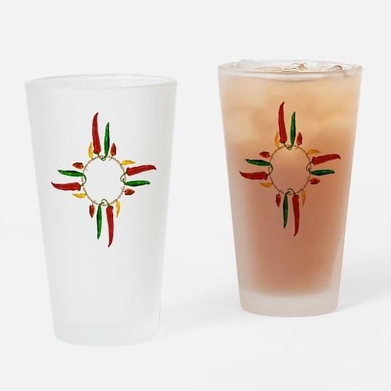 Chile pepper zia symbol Drinking Glass